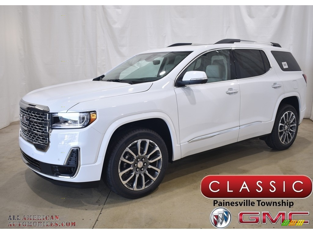2021 Acadia Denali AWD - Summit White / Dark Galvanized/Light Shale photo #1