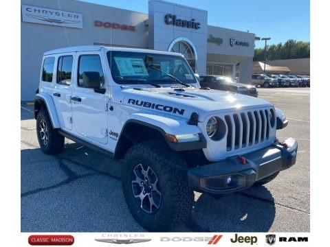 Bright White 2021 Jeep Wrangler Unlimited Rubicon 4x4