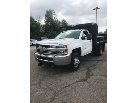Summit White 2015 Chevrolet Silverado 3500HD WT Regular Cab 4x4 Dump Truck