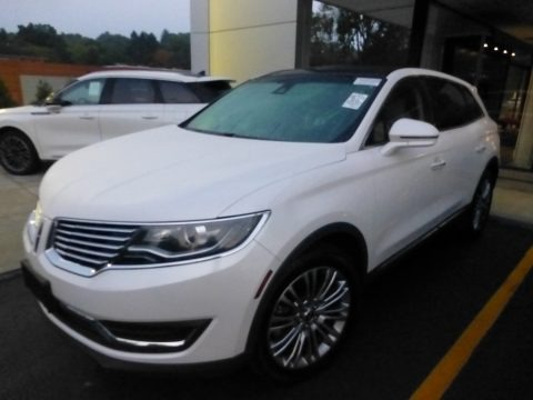 White Platinum Metallic Tri-Coat 2018 Lincoln MKX Reserve AWD