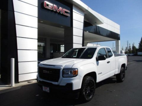 Summit White 2021 GMC Canyon Elevation Extended Cab