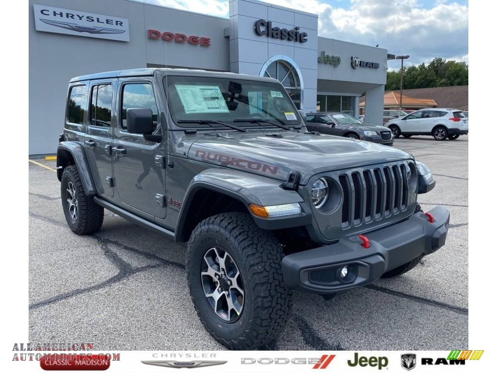 2021 Wrangler Unlimited Rubicon 4x4 - Sting-Gray / Black photo #1