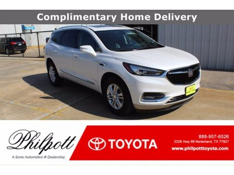 White Frost Tricoat 2018 Buick Enclave Essence AWD