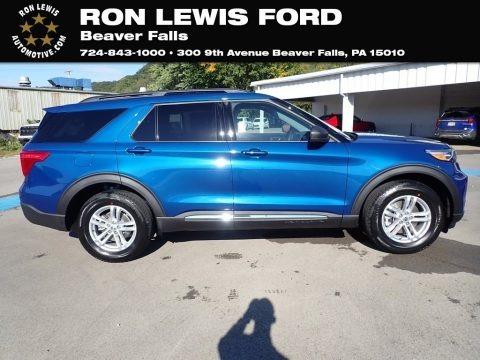 Atlas Blue Metallic 2020 Ford Explorer XLT 4WD