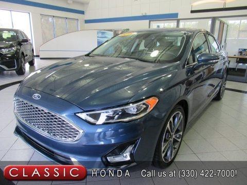 Blue Metallic 2019 Ford Fusion Titanium