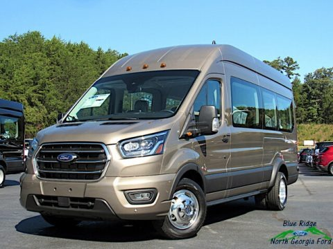 Diffused Silver 2020 Ford Transit Passenger Wagon XLT 350 HR Extended