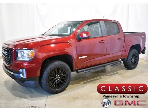 Cayenne Red Tintcoat 2021 GMC Canyon Elevation Crew Cab 4WD