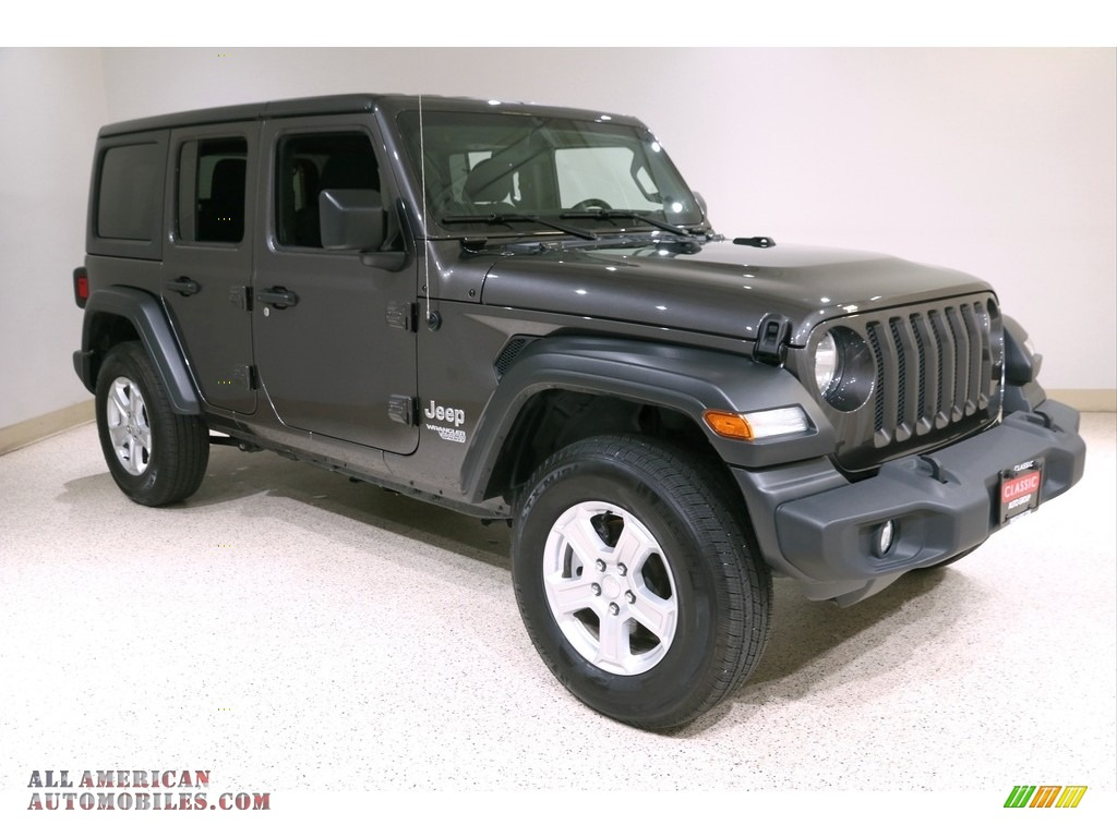 2020 Wrangler Unlimited Sport 4x4 - Granite Crystal Metallic / Black photo #1