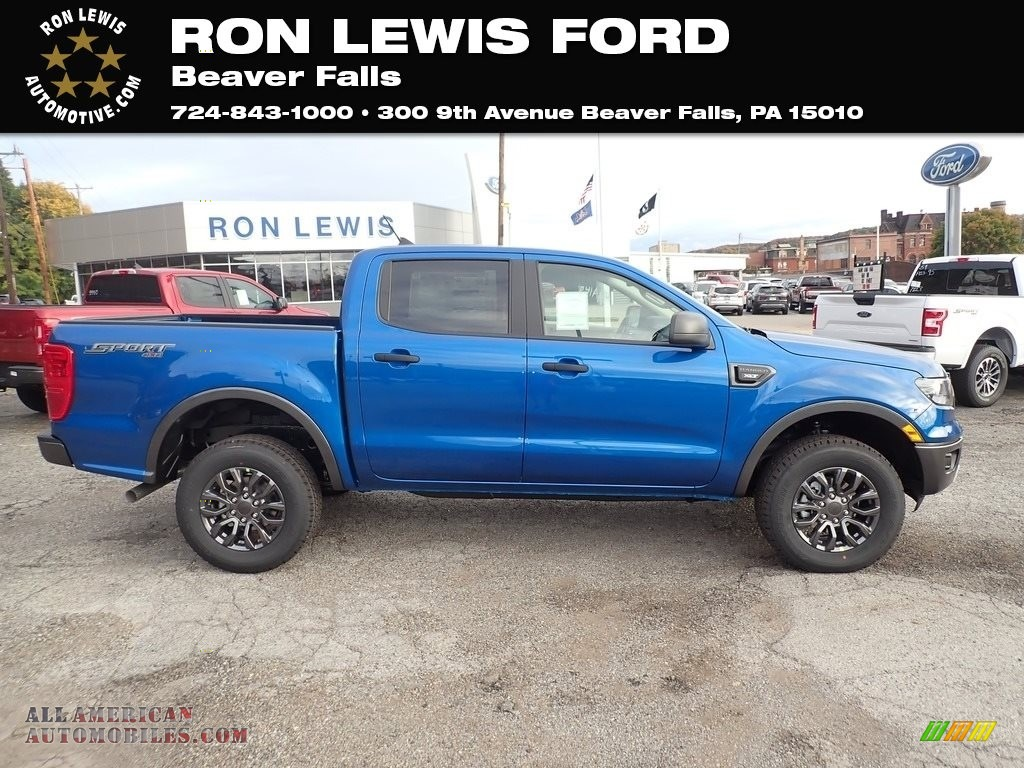 Lightning Blue / Ebony Ford Ranger XLT SuperCrew 4x4