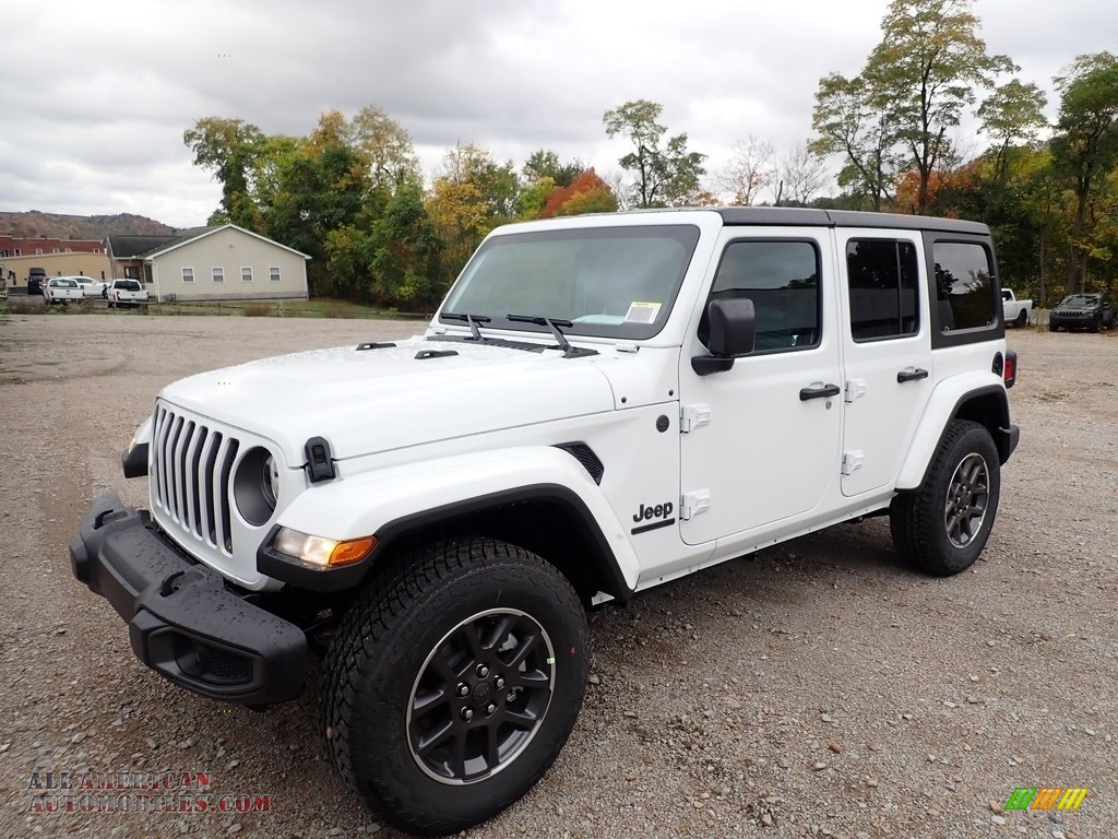 2021 Wrangler Unlimited Sport 4x4 - Bright White / Black photo #1