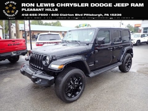 Black 2020 Jeep Wrangler Unlimited Sahara 4x4