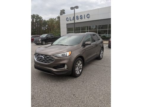 Stone Gray 2019 Ford Edge Titanium AWD
