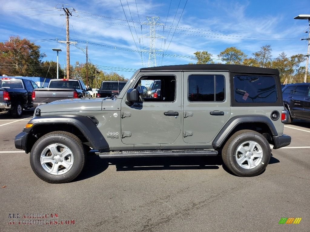 2021 Wrangler Unlimited Sport 4x4 - Sting-Gray / Black photo #4
