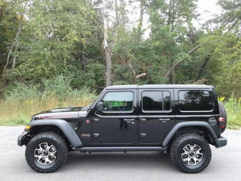 Black 2021 Jeep Wrangler Unlimited Rubicon 4x4