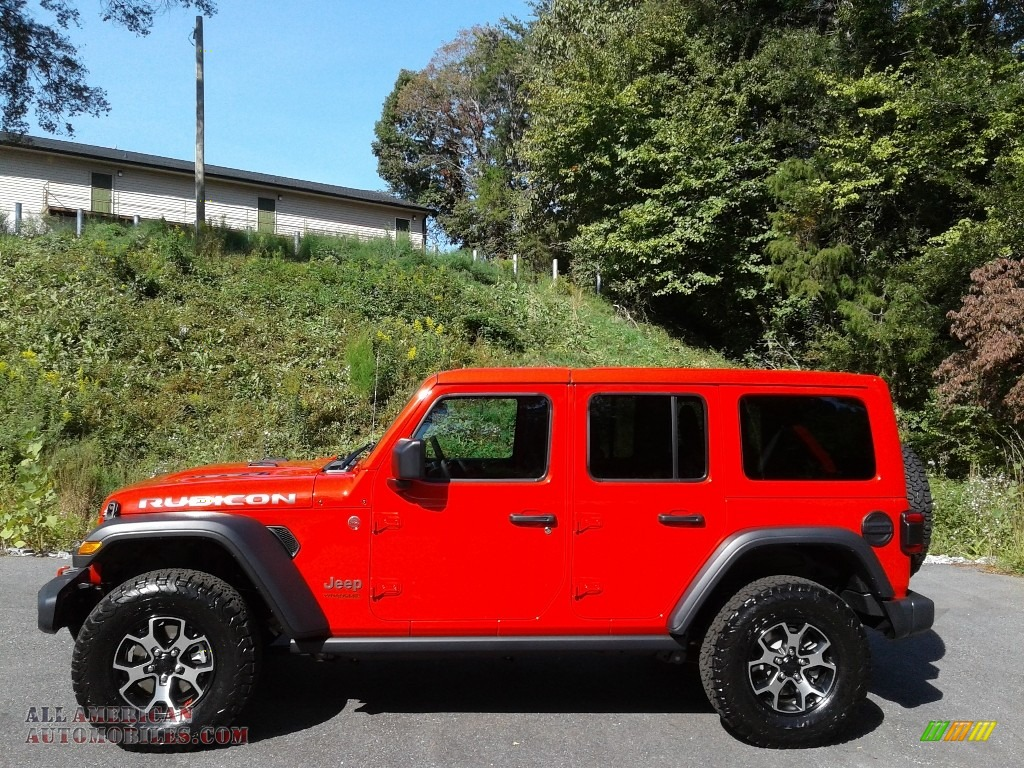 Firecracker Red / Black Jeep Wrangler Unlimited Rubicon 4x4