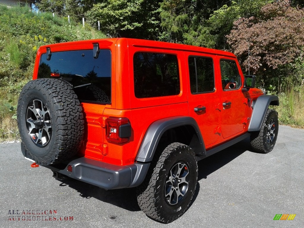 2021 Wrangler Unlimited Rubicon 4x4 - Firecracker Red / Black photo #6