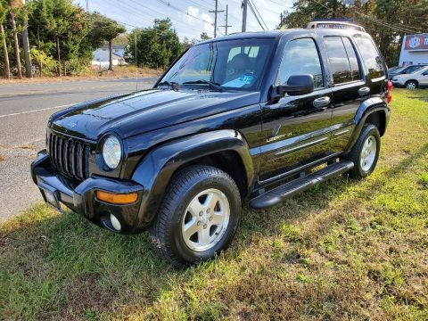 Black 2002 Jeep Liberty Limited 4x4