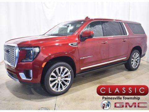 Cayenne Red Tintcoat 2021 GMC Yukon XL Denali 4WD