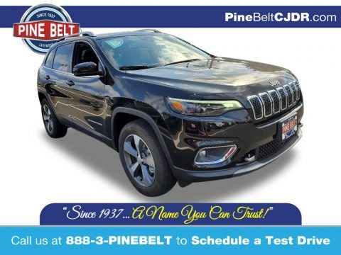 Diamond Black Crystal Pearl 2021 Jeep Cherokee Limited 4x4