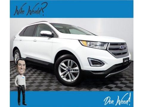Oxford White 2017 Ford Edge SEL AWD