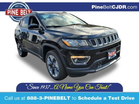 Diamond Black Crystal Pearl 2021 Jeep Compass Limited 4x4