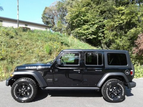 Black 2021 Jeep Wrangler Unlimited Willys 4x4