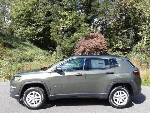 Olive Green Pearl 2021 Jeep Compass Sport 4x4
