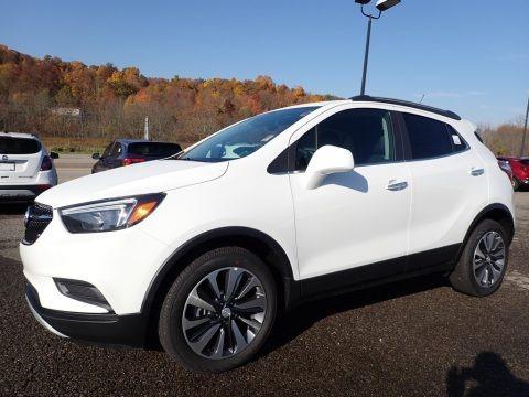 Summit White 2021 Buick Encore Preferred