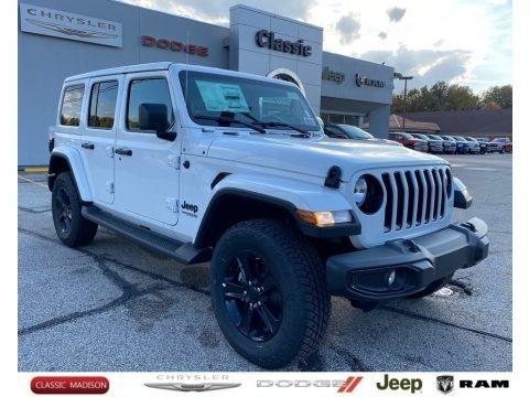 Bright White 2021 Jeep Wrangler Unlimited Sahara 4x4