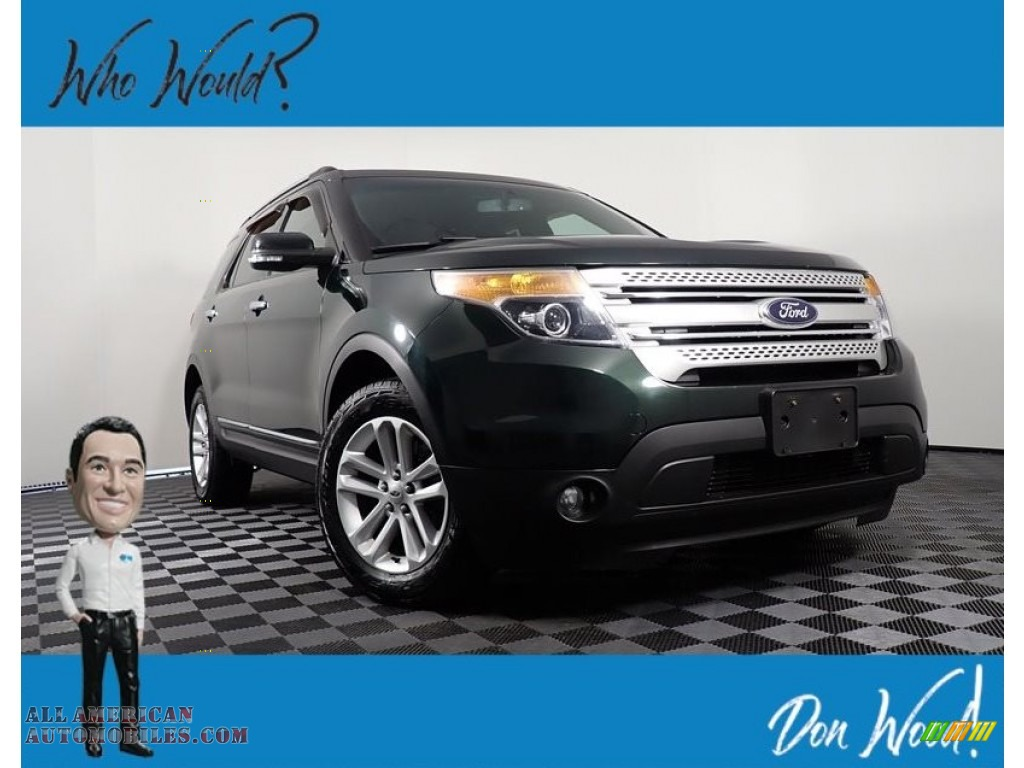2013 Explorer XLT 4WD - Green Gem Metallic / Charcoal Black photo #1