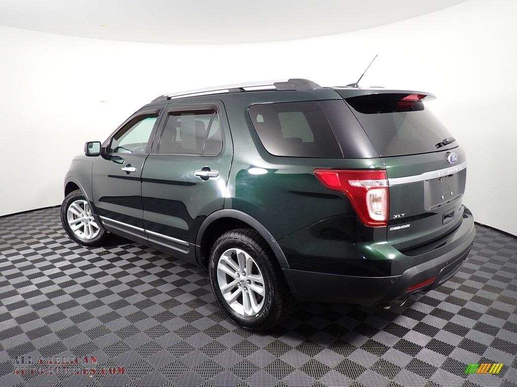 2013 Explorer XLT 4WD - Green Gem Metallic / Charcoal Black photo #11