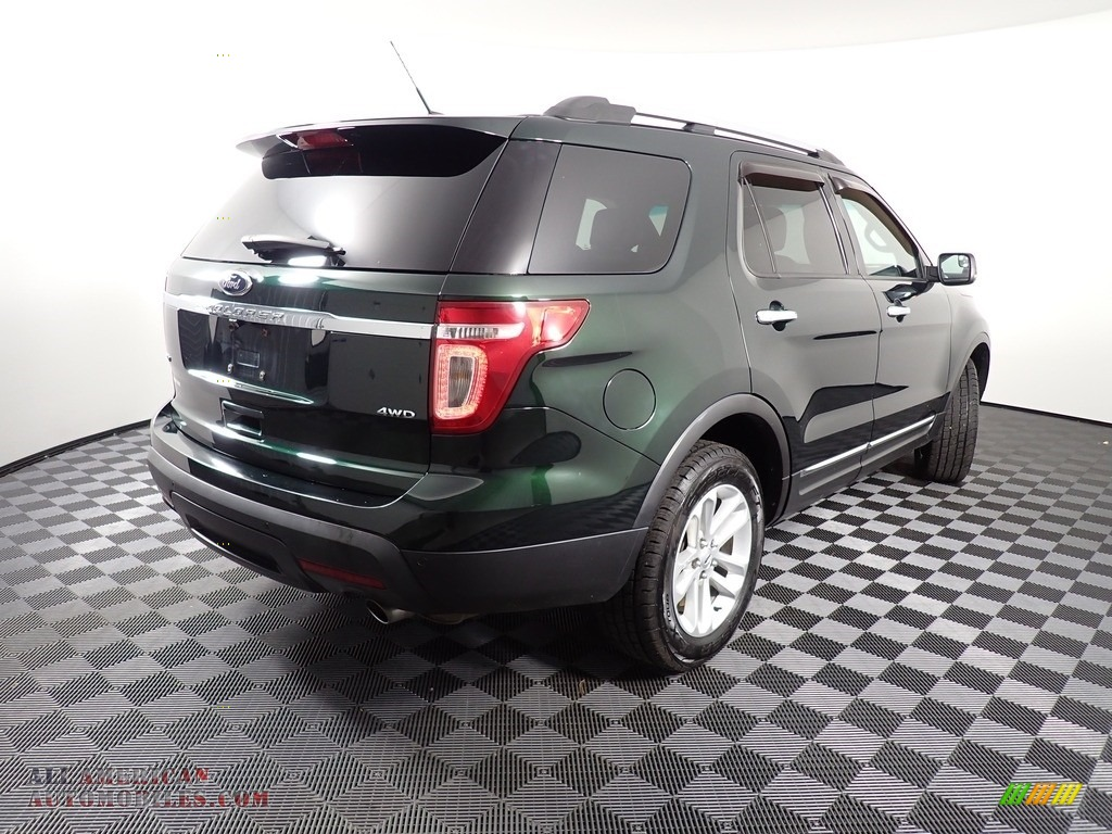 2013 Explorer XLT 4WD - Green Gem Metallic / Charcoal Black photo #18