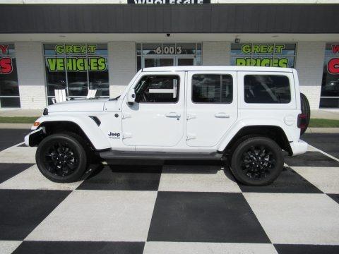 Bright White 2020 Jeep Wrangler Unlimited Sahara 4x4
