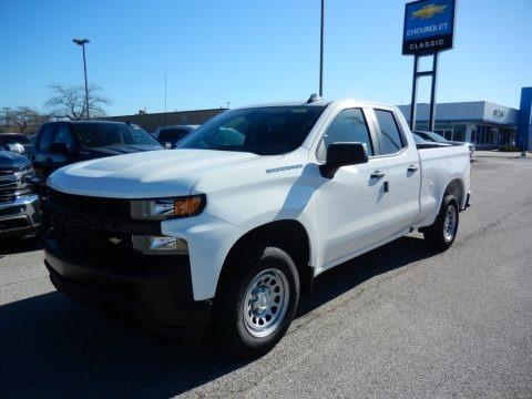 Summit White 2021 Chevrolet Silverado 1500 WT Double Cab