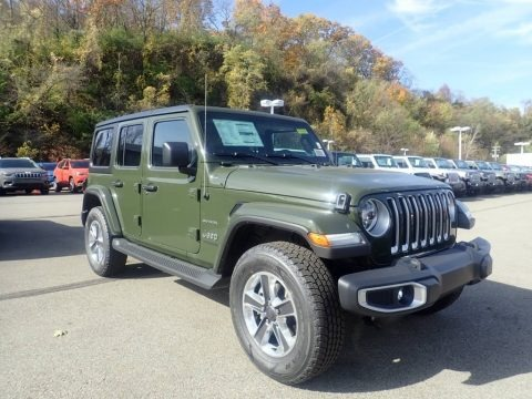 Sarge Green 2021 Jeep Wrangler Unlimited Sahara 4x4
