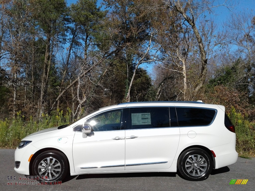 2020 Pacifica Hybrid Limited - Luxury White Pearl / Deep Mocha/Black photo #1