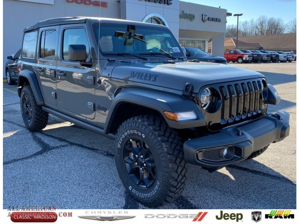 2021 Wrangler Unlimited Sport Altitude 4x4 - Sting-Gray / Black photo #1