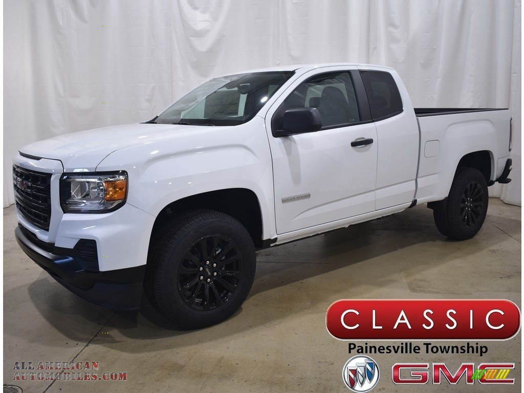Summit White / Jet Black/Dark Ash GMC Canyon Elevation Extended Cab