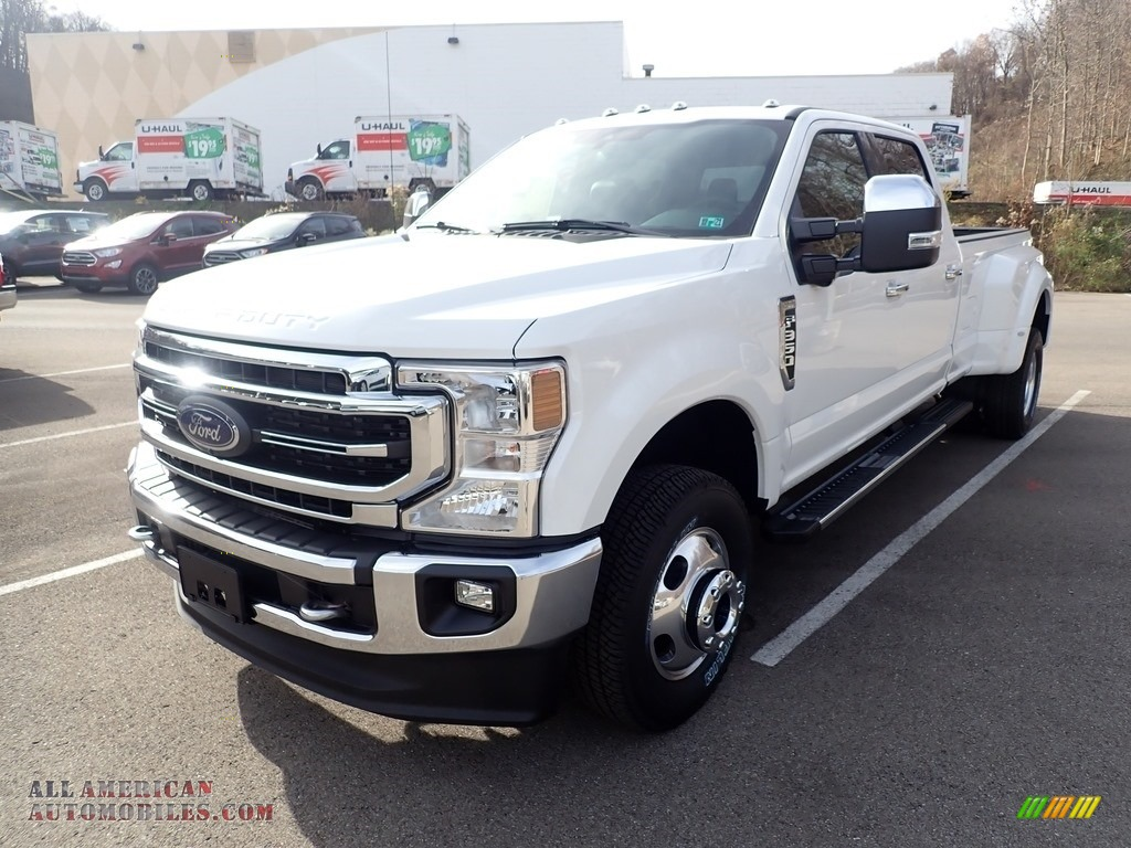 2020 F350 Super Duty Lariat Crew Cab 4x4 - Oxford White / Black photo #5