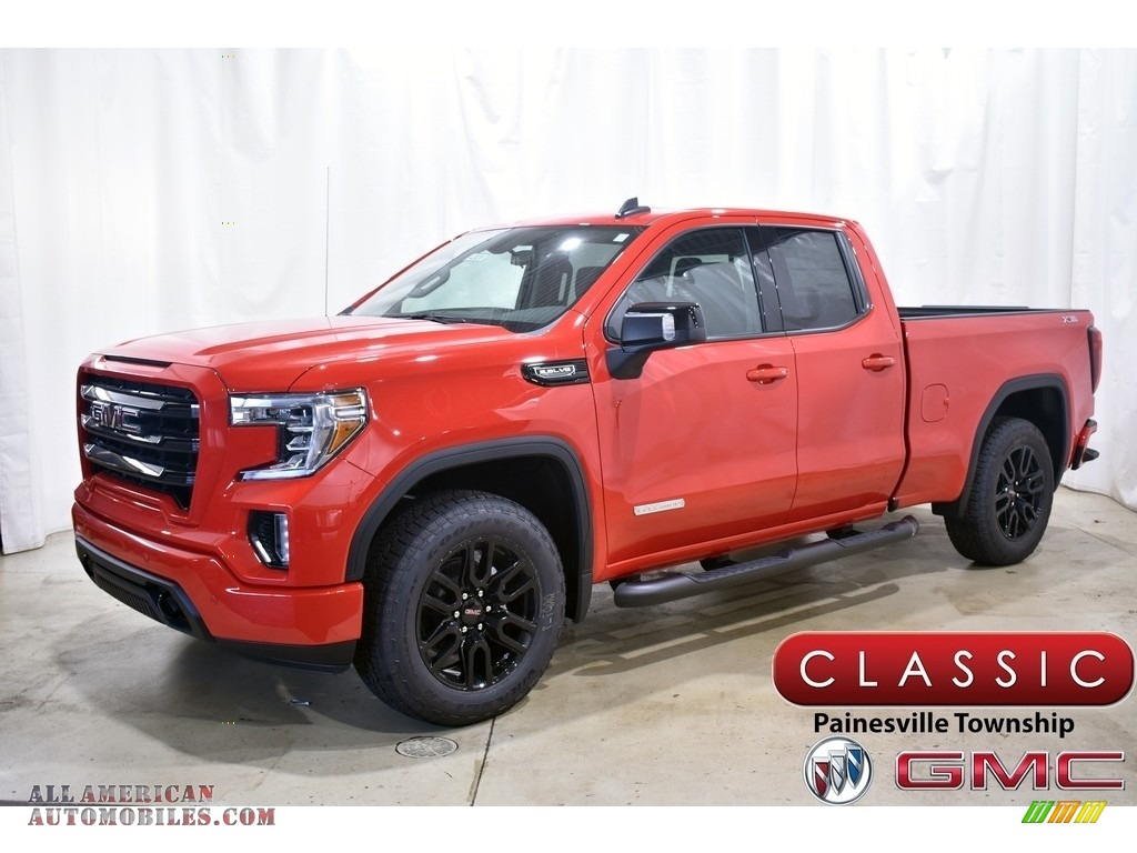Cardinal Red / Jet Black GMC Sierra 1500 Elevation Double Cab 4WD