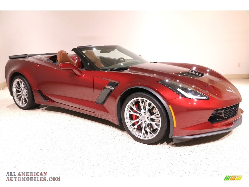 2016 Corvette Z06 Convertible - Long Beach Red Metallic Tintcoat / Kalahari photo #1