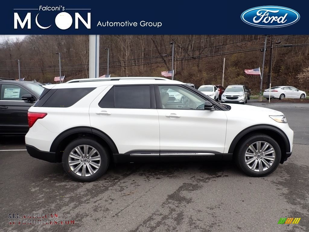 Oxford White / Sandstone Ford Explorer Limited 4WD