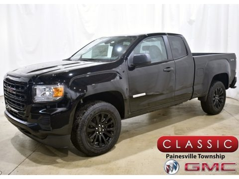 Onyx Black 2021 GMC Canyon Elevation Extended Cab 4WD
