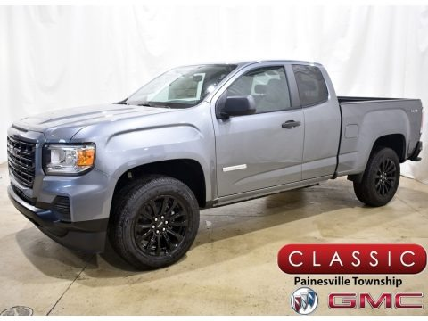 Satin Steel Metallic 2021 GMC Canyon Elevation Extended Cab 4WD