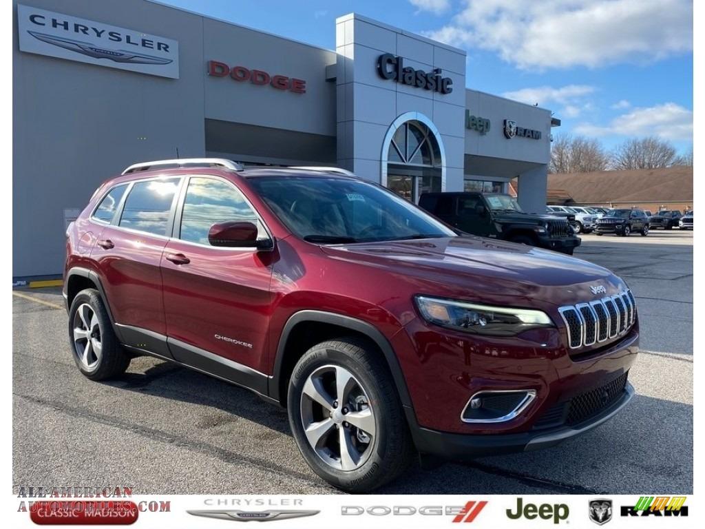 2021 Cherokee Limited 4x4 - Velvet Red Pearl / Light Frost Beige/Black photo #1
