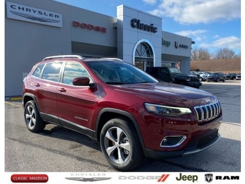Velvet Red Pearl 2021 Jeep Cherokee Limited 4x4