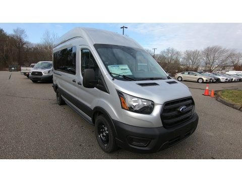 Ingot Silver 2020 Ford Transit Passenger Wagon XL 350 HR Extended