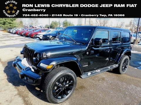 Black 2021 Jeep Wrangler Unlimited High Altitude 4x4