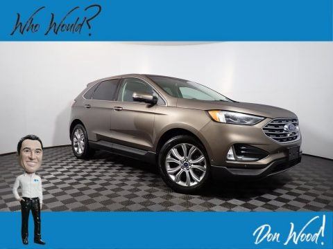 Stone Gray 2019 Ford Edge Titanium AWD