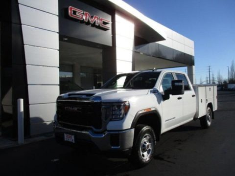 Summit White 2020 GMC Sierra 2500HD Crew Cab Chassis Utility Truck